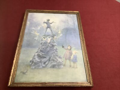 Peters Friends Framed Print Margaret W Tarrant 1930s  Medici Society D4 • 45£