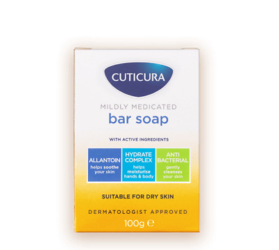 £5.95 • Buy Cuticura Mildly Medicated Bar Soap Suitable For Dry Skin - 100g
