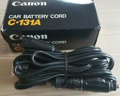 £8 • Buy Vintage Canon Car Battery Cord C-131A VCR Plug (for Use With Old Video Camera)