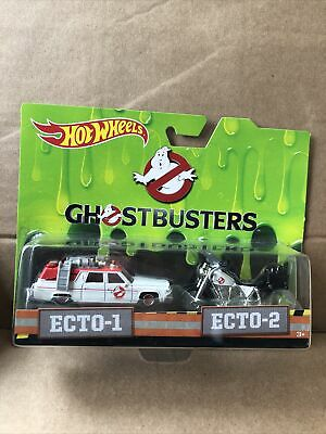 HOT WHEELS RETRO Entertainment -Ghostbusters - Ecto-1 & Ecto-2 -Combined Postage • 13.99£