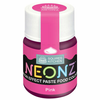 £6.99 • Buy Squires Kitchen - Neonz Neon Effect Paste Food Colour - Pink - Icing Modelling
