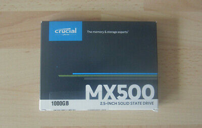 Crucial MX500 1000GB 1TB 2.5'' SSD Hard Drive HARDLY USED PERFECT CONDITION • 74.99£