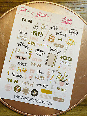 £1.49 • Buy Diary Planner Stickers, Motivational, Dreams And Plans, Calendar, Scrapbook
