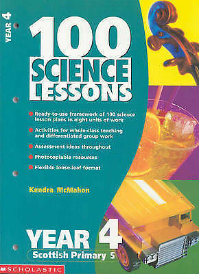 100 Science Lessons For Year 4: Year 4 By Kendra McMahon (Paperback, 2001) • 1.10£