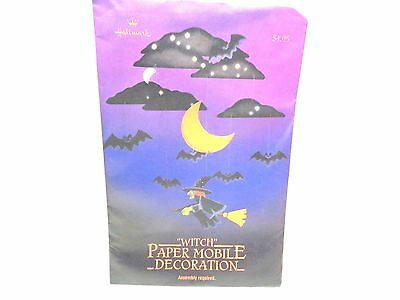 $ CDN20.29 • Buy Vintage Hallmark Paper WITCH MOBILE Halloween Decorations Sealed Package