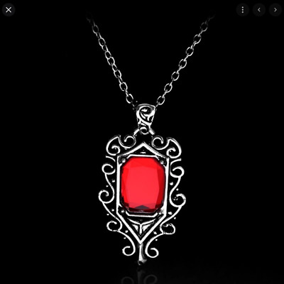 Mortal Instruments City Bones Isabelle Lightwood's Ruby Red Pendant Necklace • 5.99£