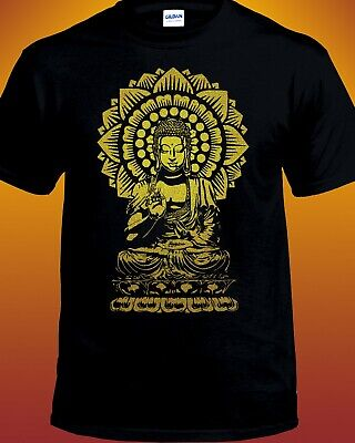 Golden Buddha Lotus Mandala T-shirt • 14.11£