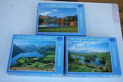 3 X 750 Piece Jigsaws Of The English Lakes. By Mikes Eye Of Keswick. • 7.50£