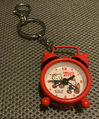A Working Cool Rare Sanrio 2014 Hello Kitty Alarm/clock Keychain • 16.08£