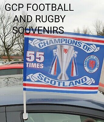 Rangers Champions Car Flag  Champions Of Scotland • 7.99£