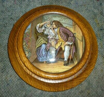 £30 • Buy Large Victorian Wooden Framed Pot Lid Called Uncle Toby