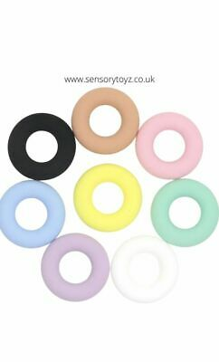 £1.35 • Buy 1x Round Silicone Teether Silicone Beads Baby Teething Ring 43mm
