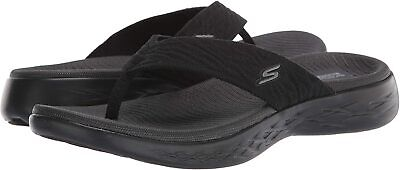 Skechers Women's Shoes Goga Mat Open Toe Casual, Black, Size 9.0 9AkJ US • 22.99£