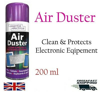 2X Compressed Air Duster Dust Blower Laptop PC Keyboard Mobile 200ml • 7.90£