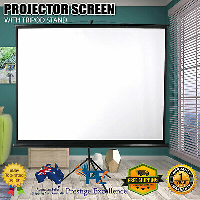 AU115.90 • Buy 100 Inch Projector Screen Tripod Stand Home Pull Down Outdoor Screens Cinema 3D