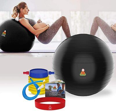 65 Fitness Exercise Ball, Workout & Chair Pregnancy Ball AntiBurst Yoga Pilates  • 15.84£