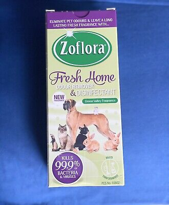 Zoflora 500ml GREEN VALLEY Fresh Home Odour Remover Disinfectant Pets Kennels • 5.99£