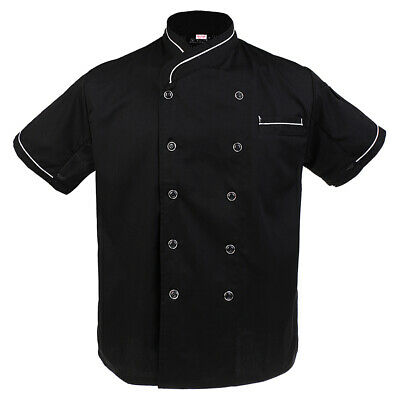 £12.14 • Buy Mens Womens Chef Apparel Chefs Jacket Mesh Sleeve Professional Kitchen Uniforms