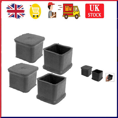 £3.59 • Buy 4pcs Square Rubber Chair Leg Caps Feet Pads Furniture Covers Floor Protector