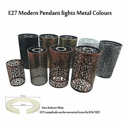£9.91 • Buy Modern Drum Light Shades Metal Pattern Easy Fit Ceiling Pendant Table Lampshade