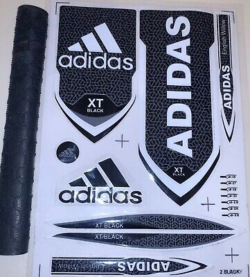 Cricket Bat Stickers Adidas Black XT 3D Embossed (Only Stickers) • 7.99£