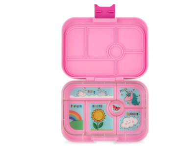 AU72 • Buy NEW Lunch Box 6 Compartment Storage Kids Bento Style Food Container - Power Pink