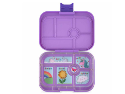 AU72 • Buy Food Container Lunch Box 6 Compartment Kids Bento Style Food Storage - Purple