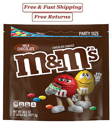 $15.89 • Buy M&M'S Milk Chocolate Candy, 38-Ounce Party Size Bag