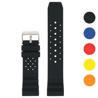 $ CDN24.35 • Buy StrapsCo Perforated Silicone Rubber Watch Band Strap For Seiko Diver