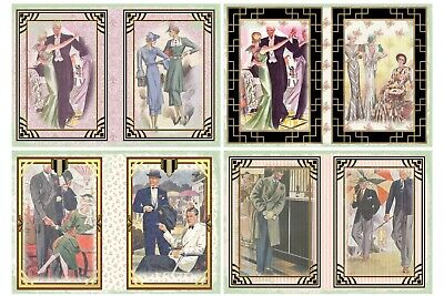 £3.34 • Buy ART DECO (A)  - 2 X A4 SHEETS OF CARD TOPPERS -  SCRAPBOOKING -  250GSM