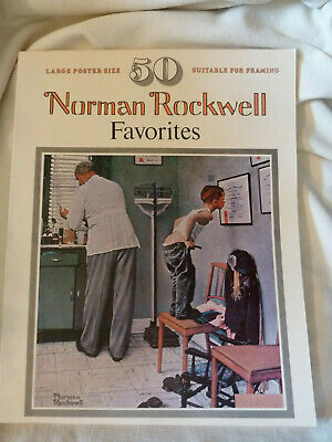 $ CDN24.76 • Buy 1977 50 Norman Rockwell Favorites Poster Size Suitable For Framing Artabras Book