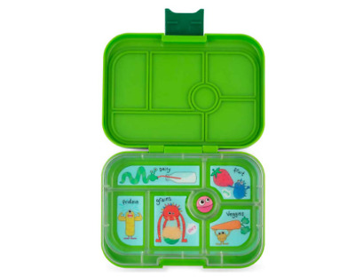 AU72 • Buy NEW Lunch Box 6 Compartment Storage Kids Bento Style Food Container - Go Green