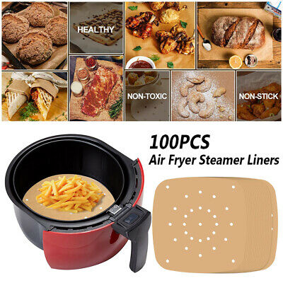 100pcs/set Air Fryer Steamer Liners Barbecue Supplies Easy Clean Home Kitchen • 5.07£