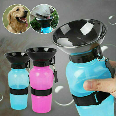 New Pet Travel Water Bottle Portable Water Drink Dog Cup With Bowl Dispenser UK • 5.29£