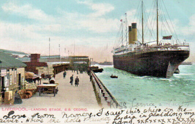 £2.25 • Buy Liverpool  Landing Stage S S Cedric Posted From Birkenhead To Germany In 1904