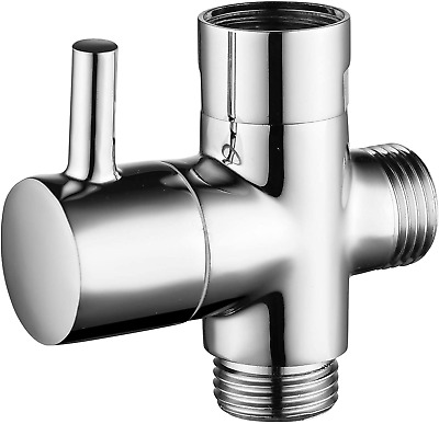$19.83 • Buy CIENCIA G1/2  Bathroom Angle Valve For Solid Brass 3-Way Shower Arm Diverter For