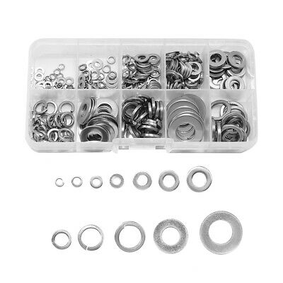 $8.95 • Buy 260Pcs Car Truck Flat Washers Kit M2.5 M3 M4 M5 M6 M8 M10  M12 Stainless Steel