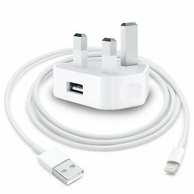 £5.95 • Buy 100% Genuine CE Charger Plug & USB Cable For Apple IPhone IPad Air Pods IPods