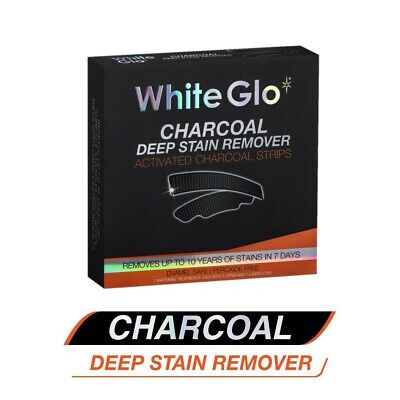 AU18.89 • Buy 1PK WhiteGlo Activated Charcoal Deep Stain Remover Whitening Strips Dental Kits