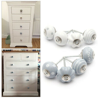 £11.99 • Buy 8 Mixed Ceramic Knobs Drawer Pull Handle Drawer Cabinet Cupboard Dresser Decor