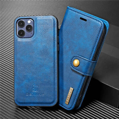 AU12.79 • Buy For IPhone 12 Mini 11 Pro Max XS XR Magnetic Leather Wallet Case Removable Cover