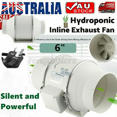 AU49.99 • Buy Silent Extractor Fan Duct Hydroponic Inline Exhaust Industrial Vent 6  Inch