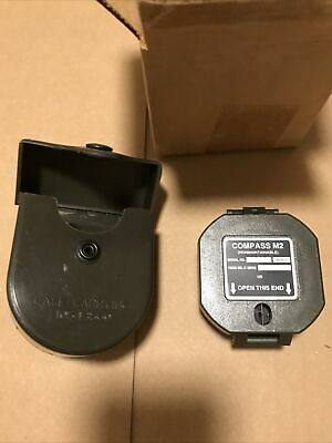 $82 • Buy Genuine Us Military M2 Unmounted Magnetic Compass W/ Hard Case Brand New In Box