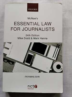 £10.99 • Buy McNae's Essential Law For Journalists (24th Edition) NCTJ Mike Dodd Mark Hanna