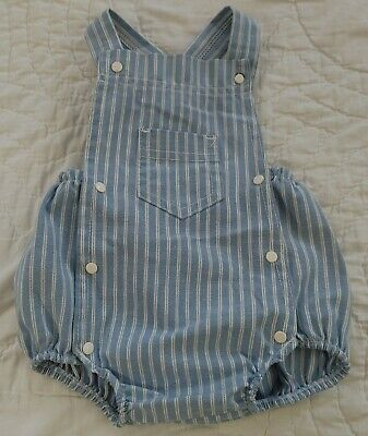 AU22.95 • Buy Vintage 60's 70's Carters Baby Overall Bubble Romper Sz 6 Mo