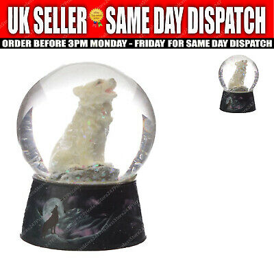 £7.99 • Buy Protector Of The North Dream Protector Wolf Snow Globe Decoration Ornament Gift