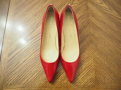 $ CDN43.73 • Buy IVANKA TRUMP Red Patent Leather Med Heel Pointed Toe Pump Shoes Size 7N