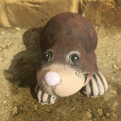 £9.99 • Buy Small Cute Mole Hand Cast And Painted Reconstituted Stone Garden Ornament