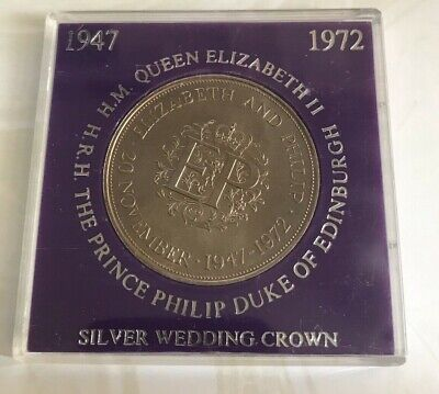 £6.50 • Buy Simply-Coins~ 1972 PROOF SILVER WEDDING CROWN COIN STUNNING
