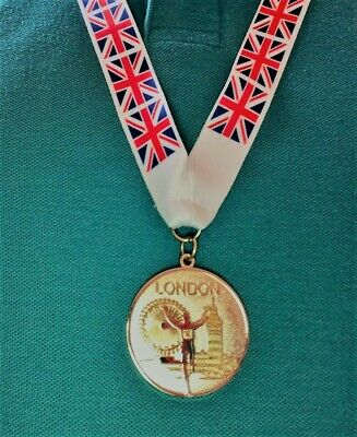 £4.99 • Buy Olympic Style London 2012 Gold Medal With Lanyard - Olympics Memorabilia